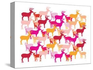 Warm Deer Pattern by Avalisa