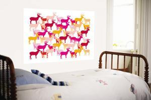 Warm Deer Pattern by Avalisa