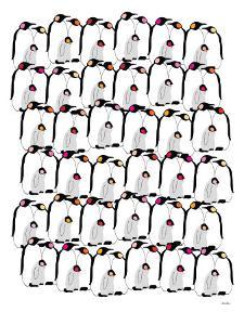 Warm Penguin Pattern by Avalisa