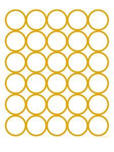 Yellow Circles by Avalisa