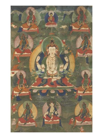 Avalokitesvara, sous son aspect Sadaksarî--Giclee Print