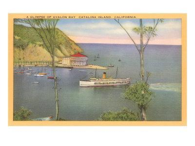 Avalon Bay, Catalina, California--Art Print