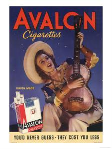 Avalon, Cigarettes Smoking, Guitars Instruments, USA, 1940