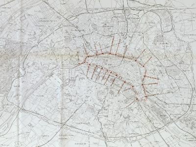 Avant projet de ligne métropolitaine centrale : plan général des voies ferr-Alexandre-Gustave Eiffel-Giclee Print