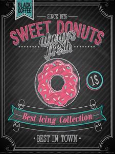 Donuts Poster - Chalkboard by avean