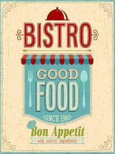 Vintage Bistro Poster by avean