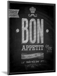 Vintage Bon Appetit Poster - Chalkboard by avean
