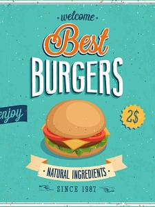 Vintage Burgers Poster by avean