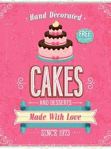 Vintage Cakes Poster by avean