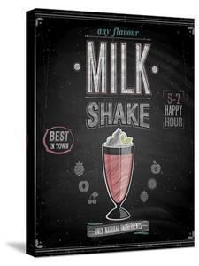 Vintage Milkshake Poster - Chalkboard by avean
