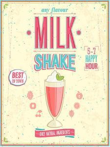 Vintage Milkshake Poster by avean
