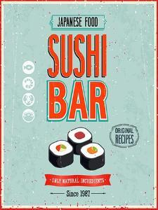 Vintage Sushi Bar Poster by avean