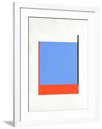 Avec droitesse-Aurélie Nemours-Framed Limited Edition
