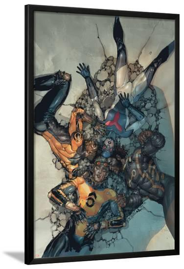 Avengers #14 Cover: Sunspot, Cannonball, Wolverine, Smasher-Leinil Francis Yu-Lamina Framed Poster