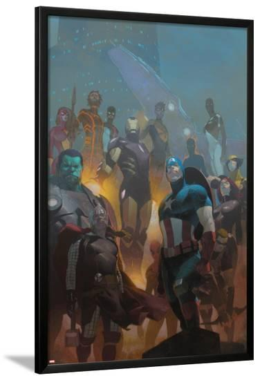 Avengers #24 Cover: Wolverine, Black Widow, Captain America, Spider-Man, Iron Man, Hulk, Thor-Esad Ribic-Lamina Framed Poster