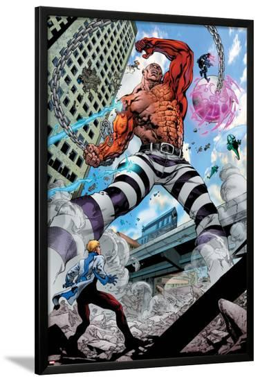 Avengers Academy No.7: Absorbing Man Fighting-Mike McKone-Lamina Framed Poster
