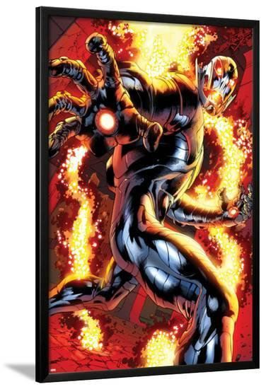 Avengers: Age of Ultron No.0.1: Ultron Running-Bryan Hitch-Lamina Framed Poster