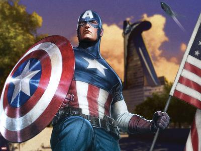 Avengers Assemble Artwork Featuring Captain America--Art Print