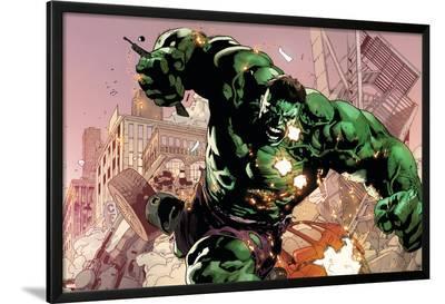 Avengers Assemble Artwork Featuring Hulk--Lamina Framed Poster