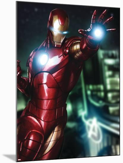 Avengers Assemble Artwork Featuring Iron Man--Mounted Poster