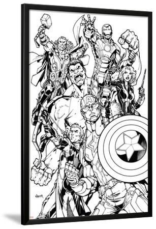 Avengers Assemble Inks Featuring Captain America, Hawkeye, Hulk, Black Widow, Iron Man, Thor