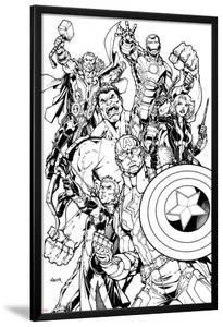 Avengers Assemble Inks Featuring Captain America, Hawkeye, Hulk, Black Widow, Iron Man, Thor