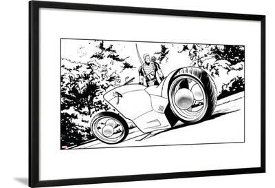 Avengers Assemble Inks Featuring Hawkeye--Lamina Framed Poster