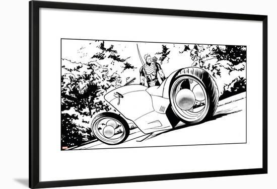 Avengers Assemble Inks Featuring Hawkeye Lamina Framed Poster by ...
