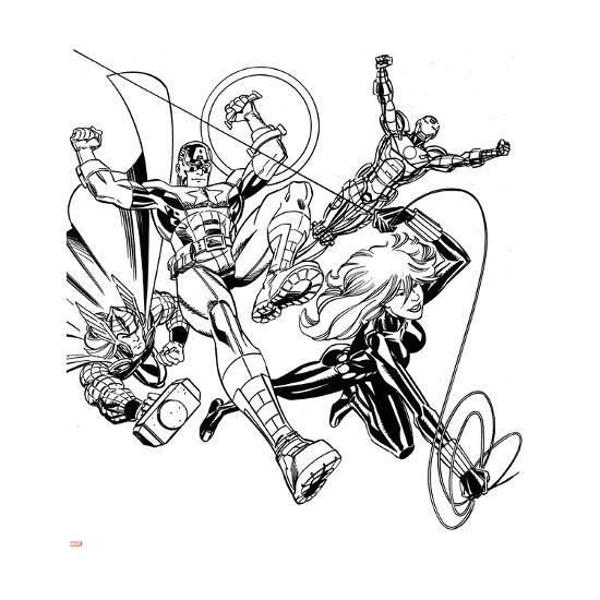 avengers assemble inks featuring iron man captain america thor