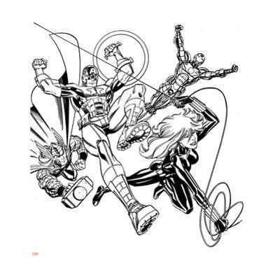 Avengers Assemble Inks Featuring Iron Man, Captain America, Thor, Black Widow