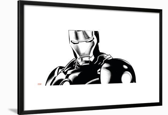 Avengers Assemble Inks Featuring Iron Man Lamina Framed Poster by ...