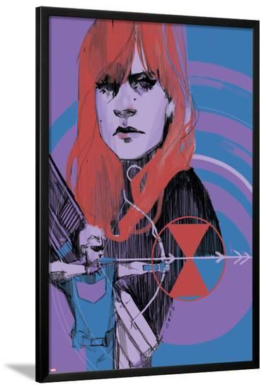 Avengers Assemble Panel Featuring Black Widow, Hawkeye--Lamina Framed Poster
