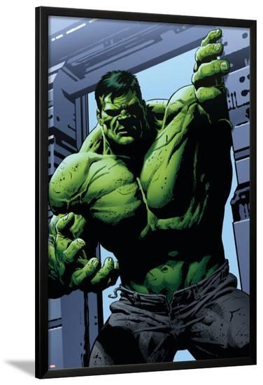 Avengers Assemble Panel Featuring Hulk--Lamina Framed Poster