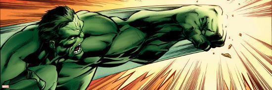 Avengers Assemble Panel Featuring Hulk--Poster
