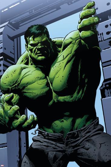 Avengers Assemble Panel Featuring Hulk--Art Print