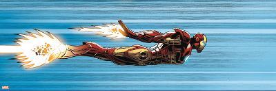 Avengers Assemble Panel Featuring Iron Man--Art Print