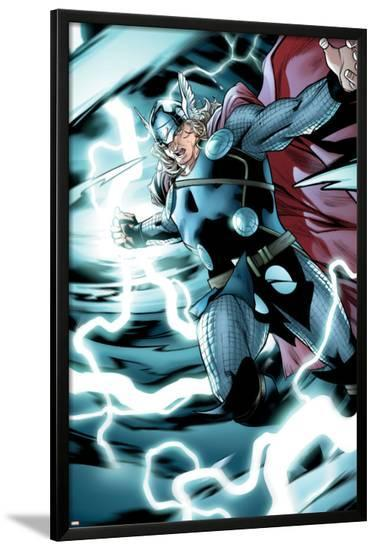Avengers Assemble Panel Featuring Thor--Lamina Framed Poster