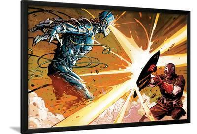 Avengers Assemble Panel Featuring Ultron, Captain America--Lamina Framed Poster