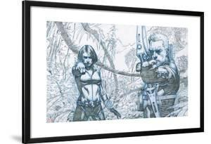 Avengers Assemble Pencils Featuring Black Widow, Hawkeye