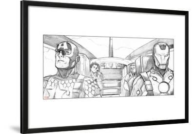 Avengers Assemble Pencils Featuring Captain America, Iron Man