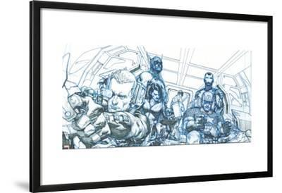 Avengers Assemble Pencils Featuring Hawkeye, Captain America, Iron Man, Thor, Black Widow