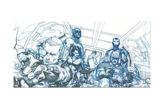 Avengers Assemble Pencils Featuring Hawkeye, Captain America, Iron Man, Thor, Black Widow--Poster