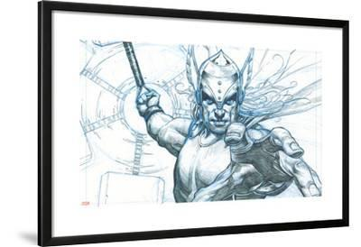 Avengers Assemble Pencils Featuring Thor--Lamina Framed Poster