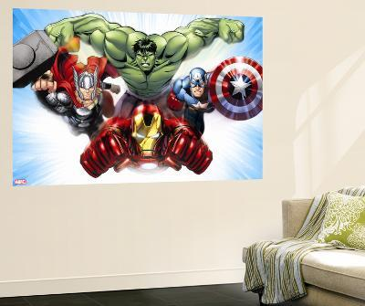 Avengers Assemble - Situational Art--Wall Mural