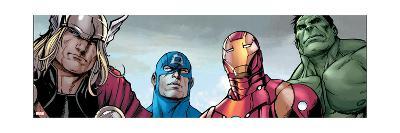 Avengers Assemble Style Guide: Thor, Captain America, Iron Man, Hulk--Art Print