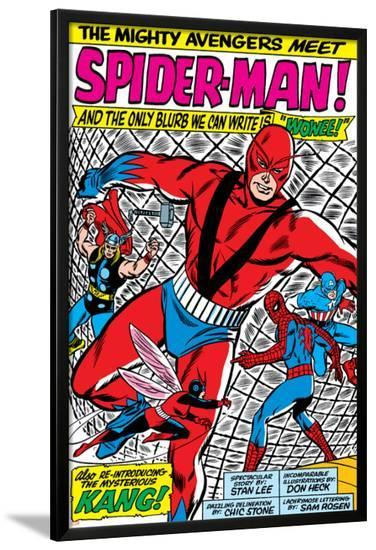 Avengers Classic No.11 Group: Spider-Man, Giant Man and Wasp-Don Heck-Lamina Framed Poster