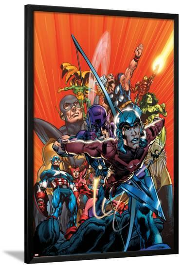 Avengers Finale No.1 Cover: Ant-Man-Neal Adams-Lamina Framed Poster