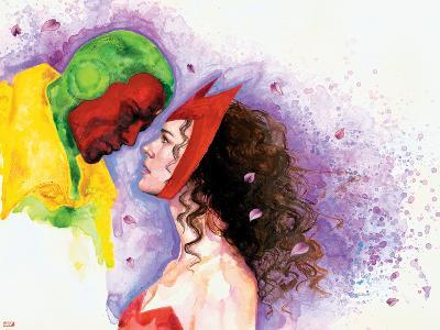 Avengers Finale No.1 Headshot: Vision and Scarlet Witch-David Mack-Art Print