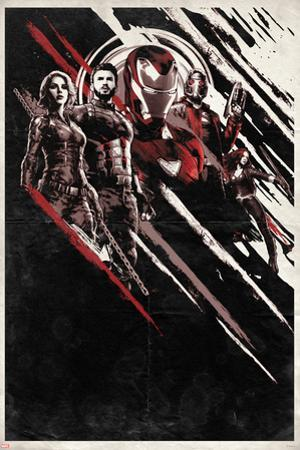 Avengers: Infinity War - Red and Black Streaks