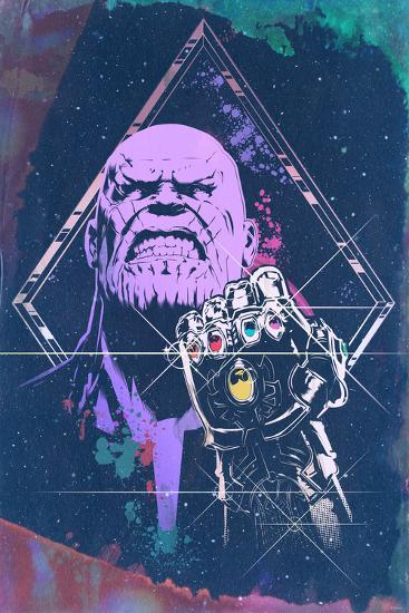 Avengers: Infinity War - Thanos (Watercolor)--Art Print